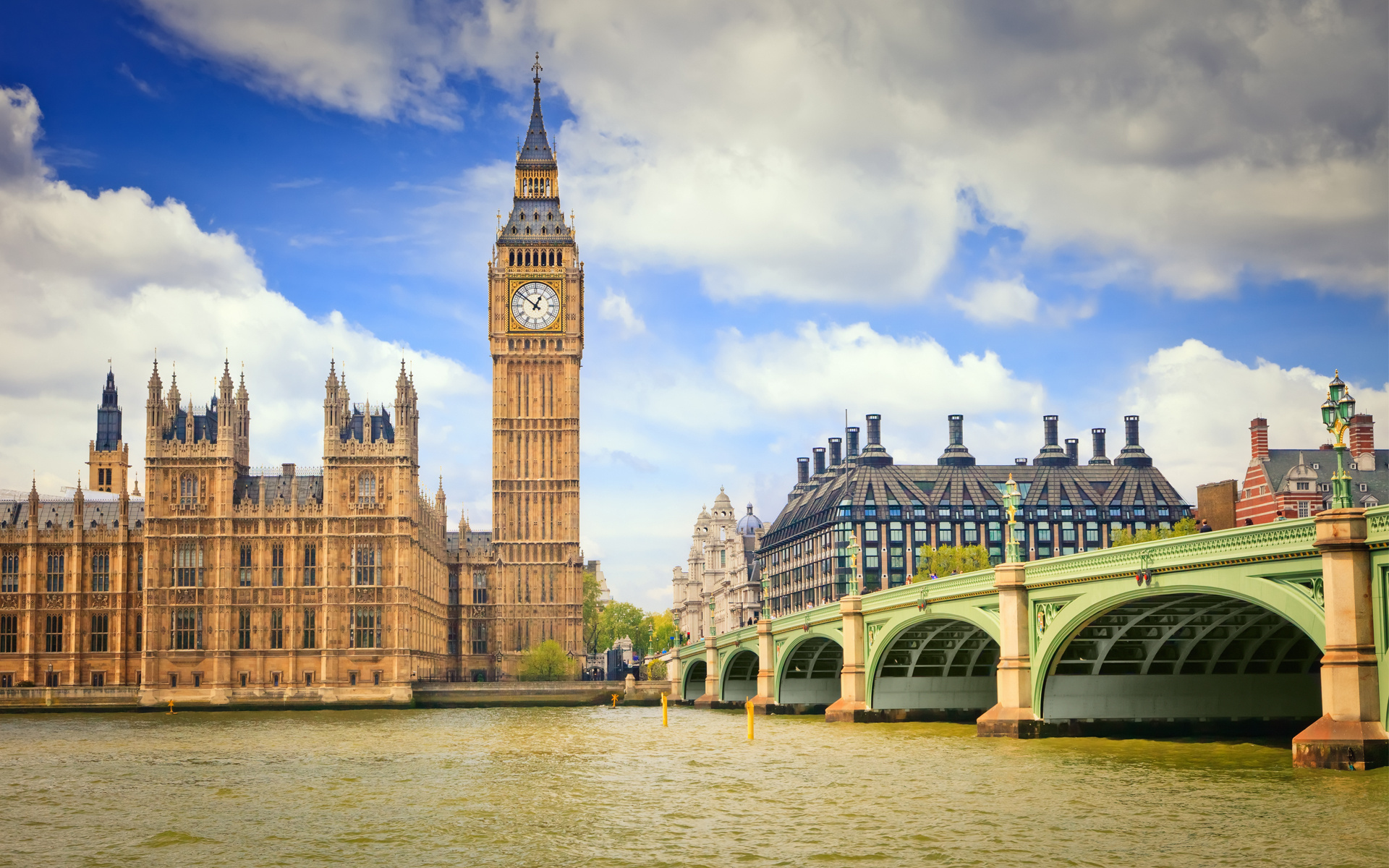 London Big Ben Wallpaper HD 1920x1200