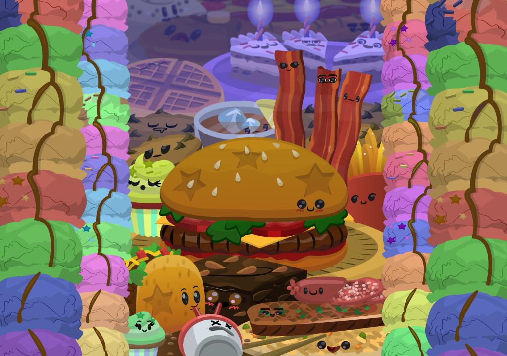 Cute Food Wallpaper by ashlelang 1024x720