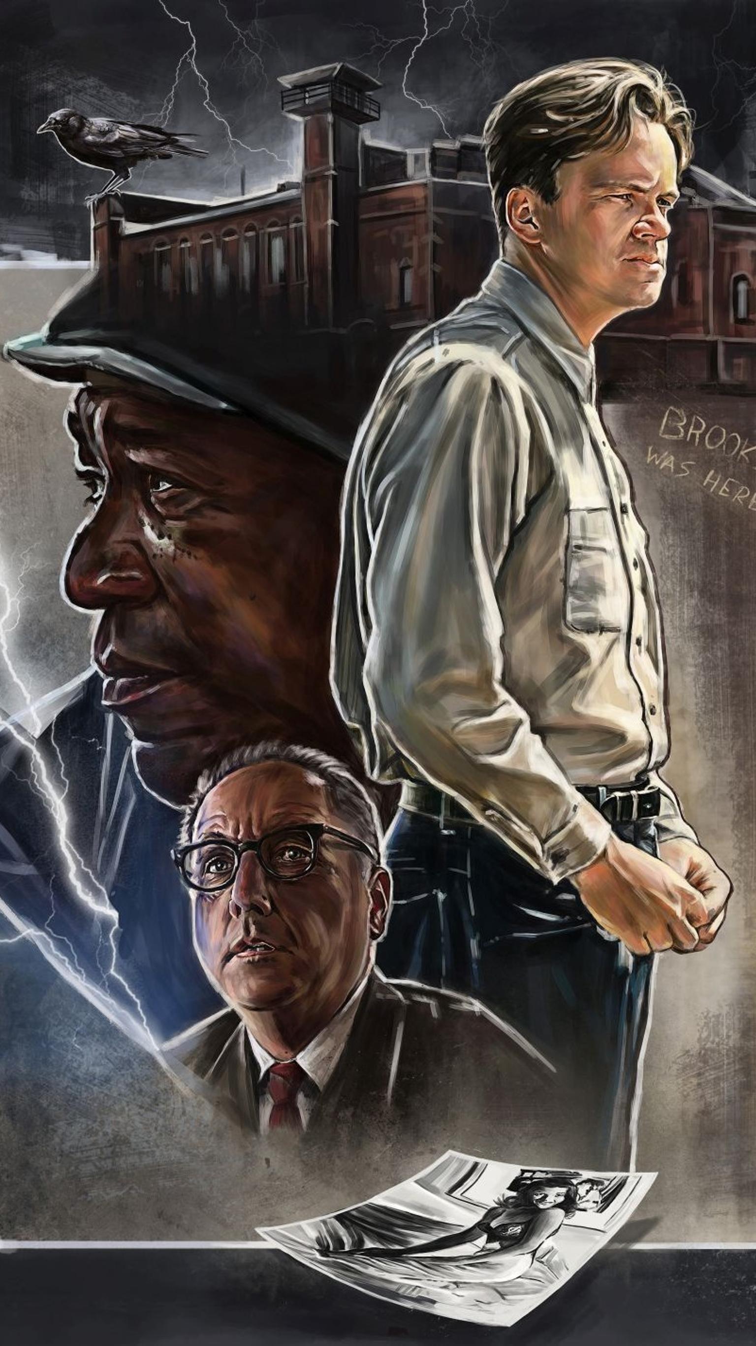 The Shawshank Redemption 1994 Phone Wallpaper Moviemania 1536x2732
