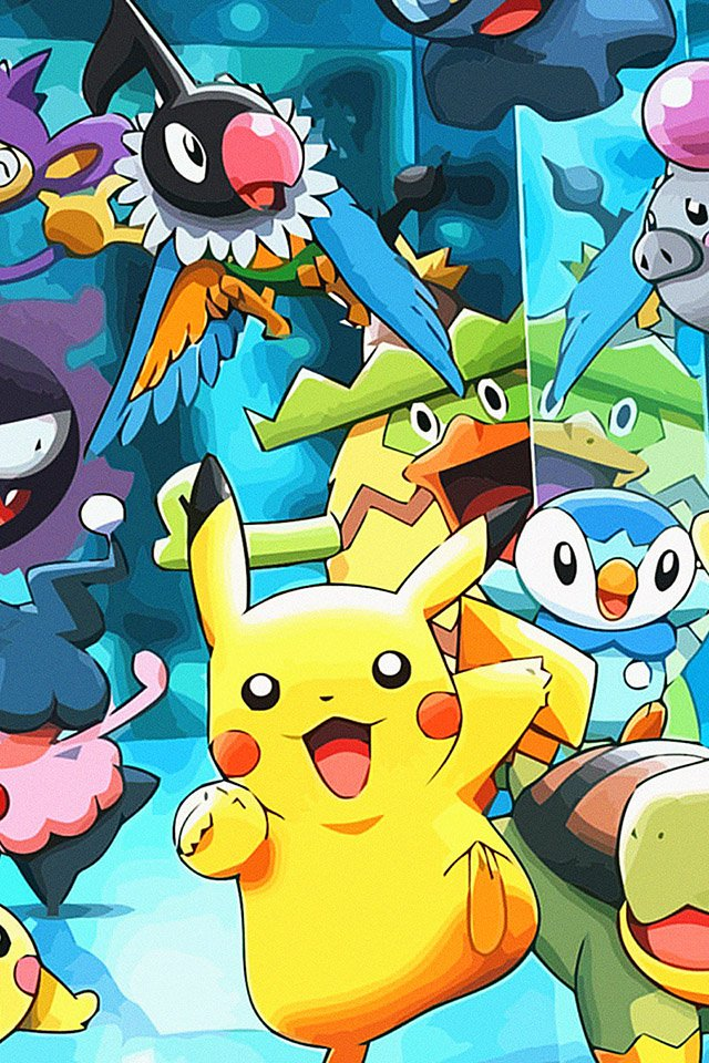 FREEIOS7 pikachu pokemon   parallax HD iPhone iPad wallpaper 640x960