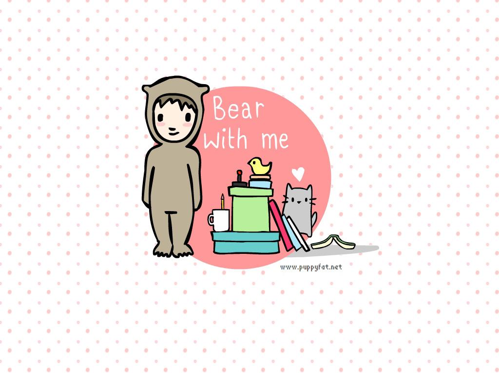 bear costume cute kawaii wallpaper   image 59315 on Favimcom 1024x767