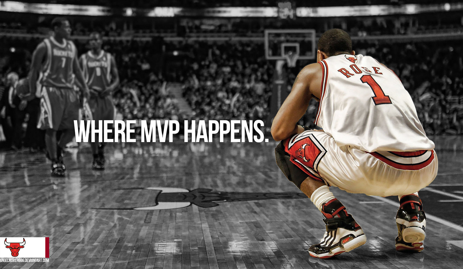 Derrick Rose MVP Wallpaper by IshaanMishra 1600x930