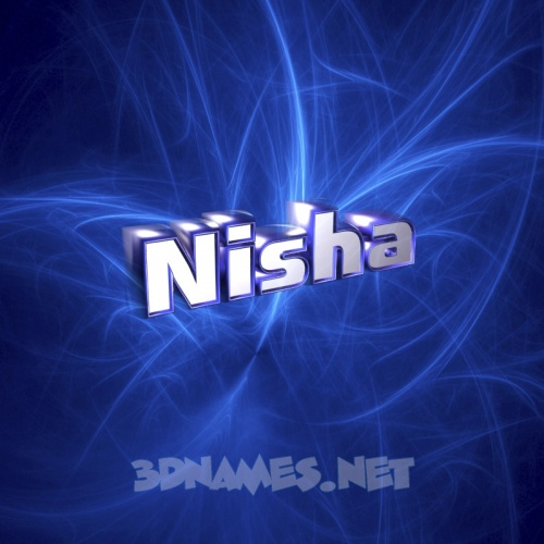 Preview of Plasma for name nisha 500x500