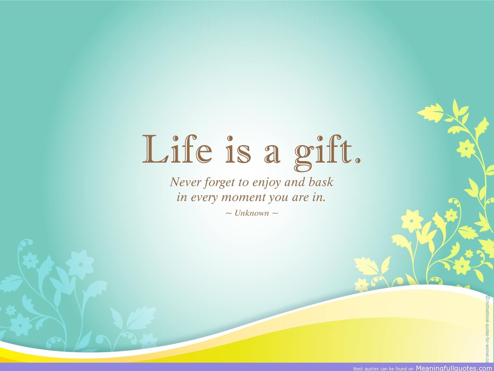 Cute Life Quotes 1600x1200