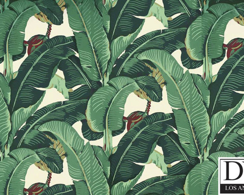 Beverly Hills Martinique Banana Leaf Wallpaper 500x400
