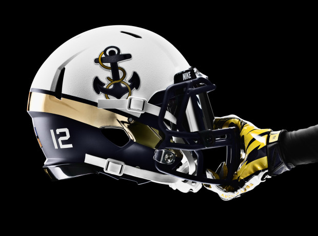 The helmet design is inspired by a Naval Officers cover with a 620x461