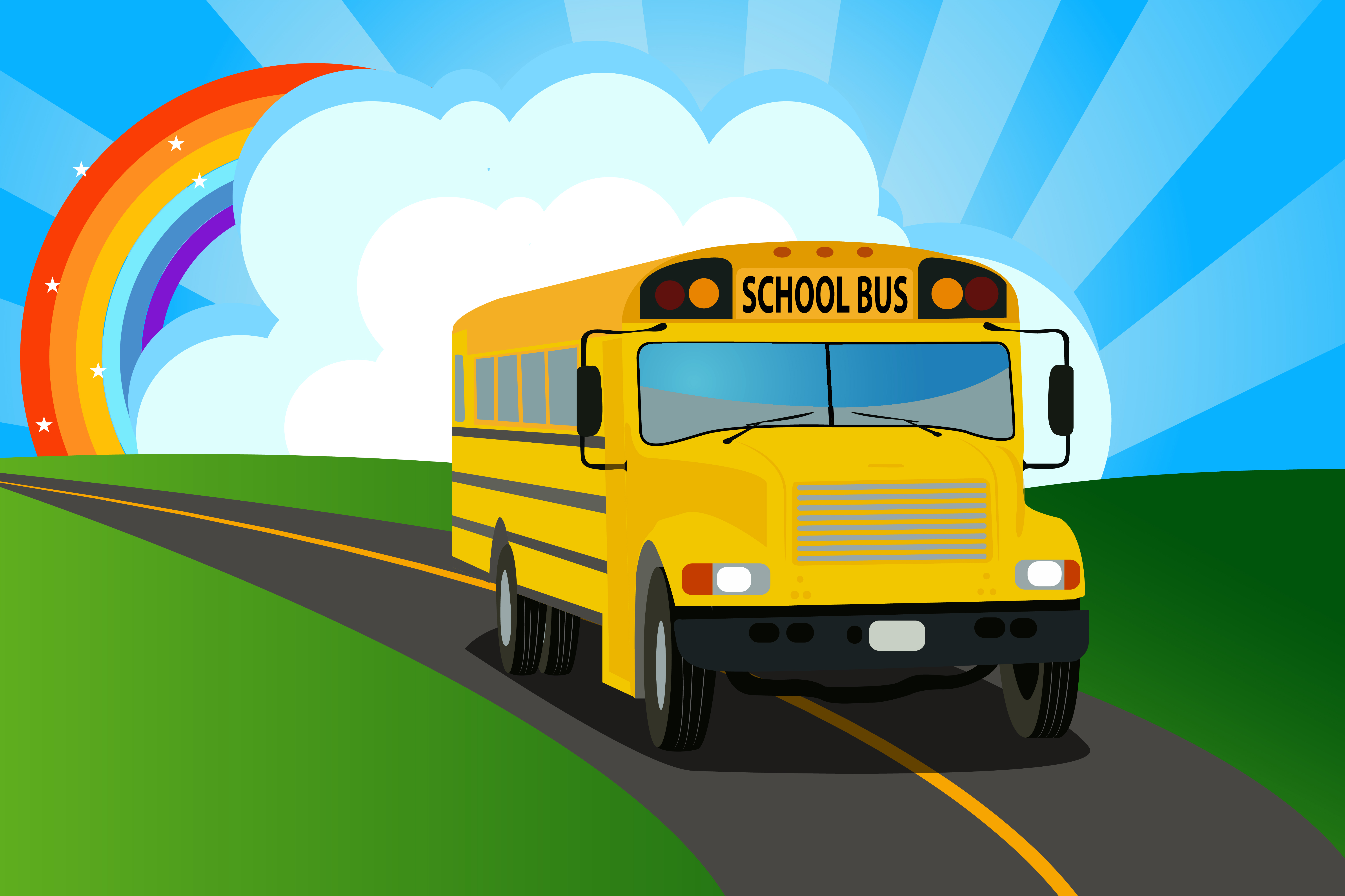 Gallery For gt School Bus Background 6119x4079