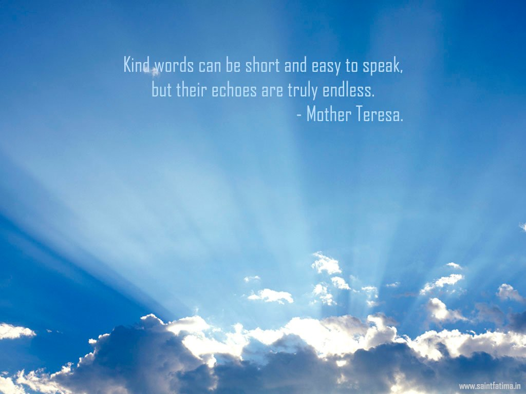 Christian Quote Kind Words By Mother Teresa Wallpaper Background 1024x768