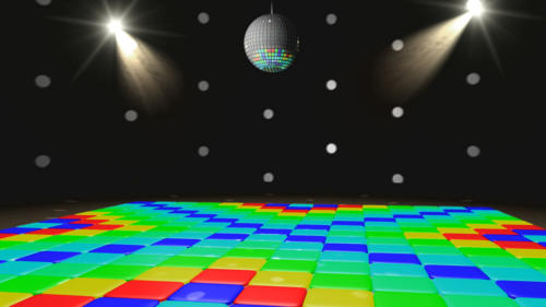 animated angles of the Disco Set spinning disco ball flashing 500x281