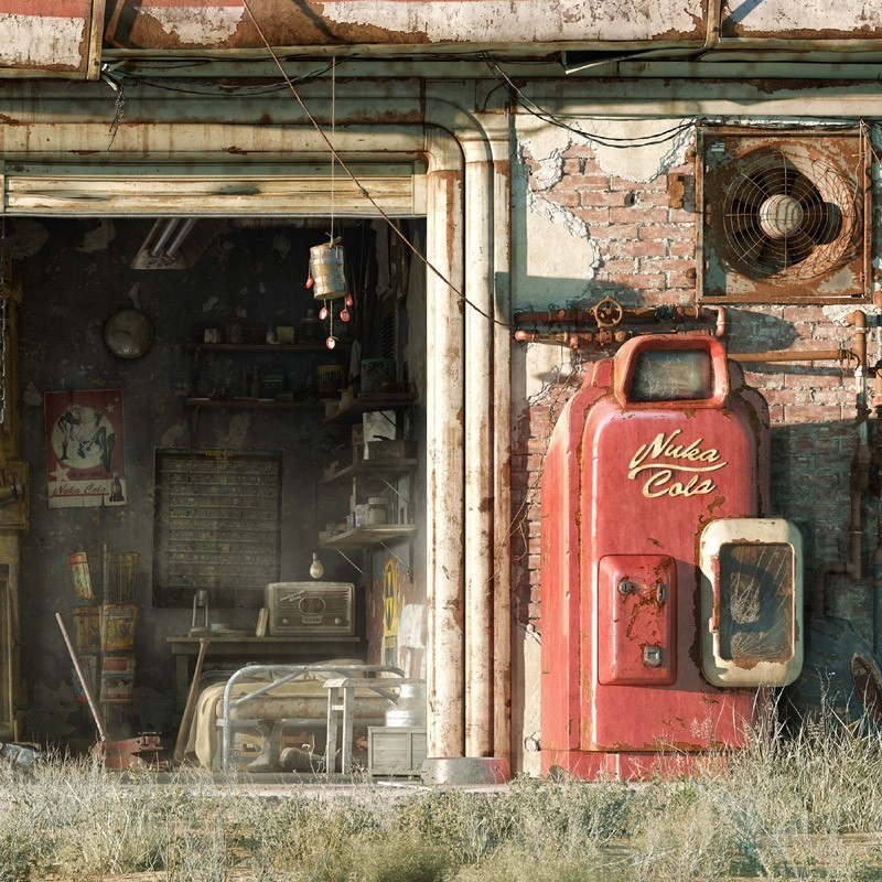 Fallout 4 garage wallpaper wallpapersafari for Fallout 4 mural