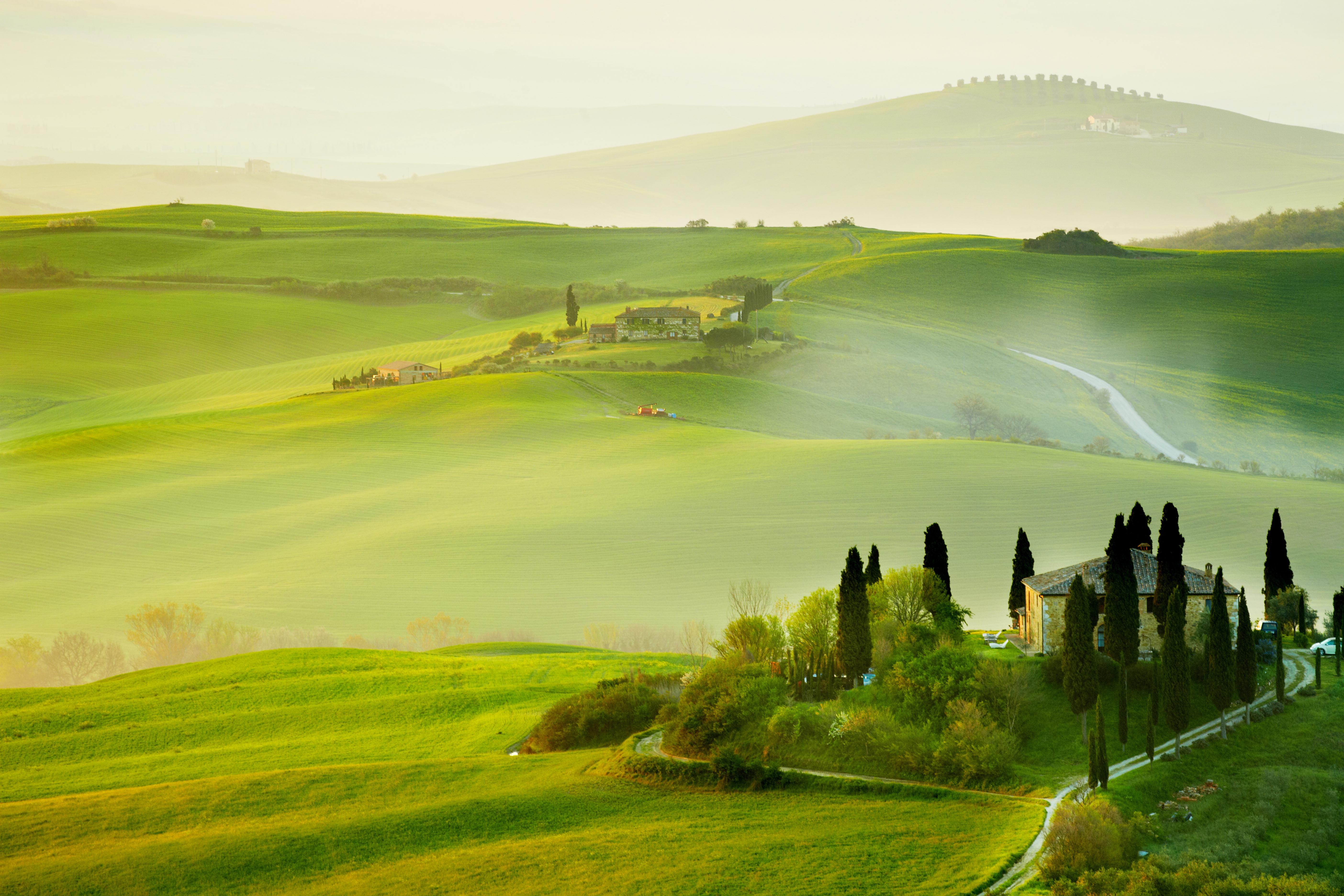 Wallpapersafari: Italian Countryside Wallpaper