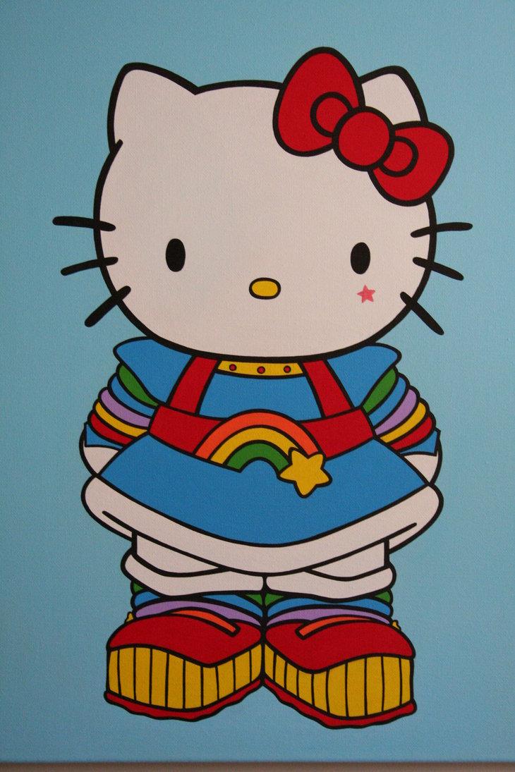 Rainbow Hello Kitty Wallpaper