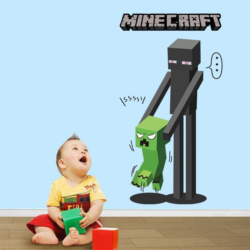 Minecraft Wallpaper Wall Stickers poster Room bedroom set minecraft 800x800