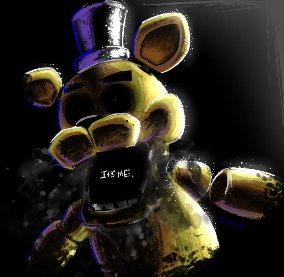 Golden Freddy   ITS ME SPEEDPAINT by NeppyNeptune on 905x882