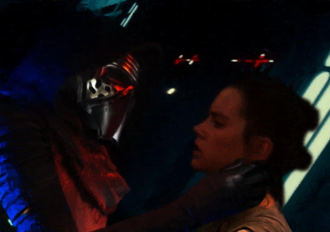 Kylo Ren Interrogates Rey by Jones6192 1065x751