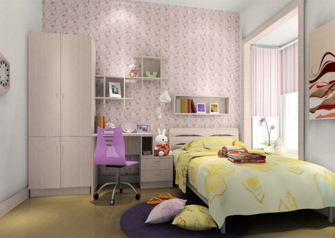 Wallpaper 3D design for girls room 3D House 1107x785