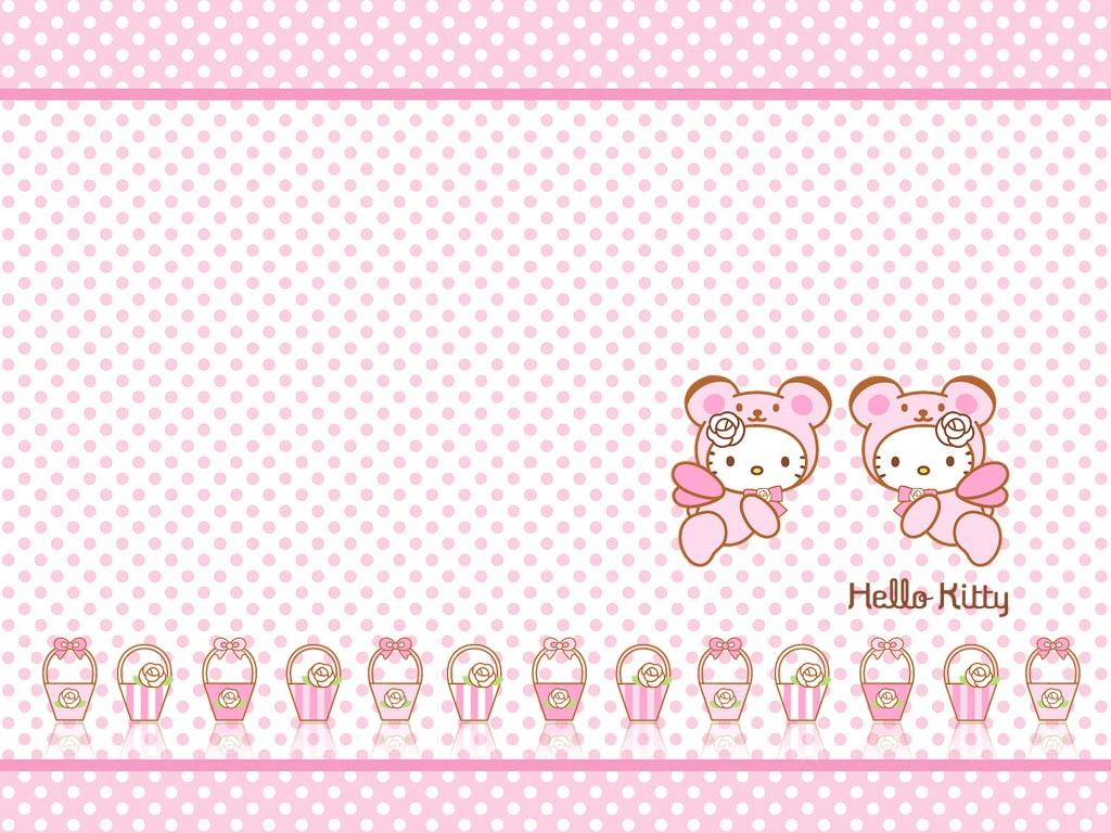 Download Hello Kitty Bow Cute Dress Pink Wallpaper 1024x768