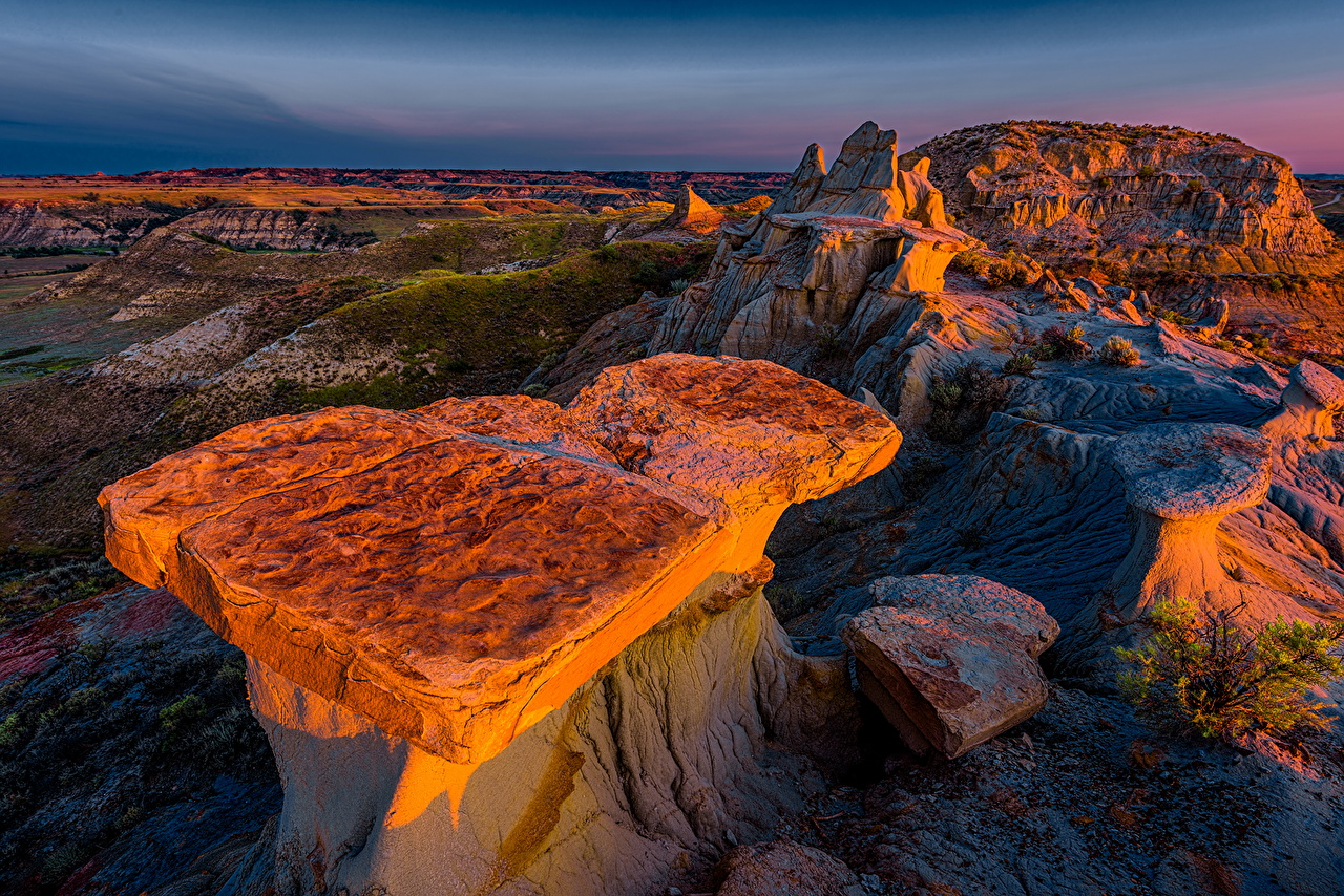 Wallpapers USA Theodore Roosevelt National Park Nature Mountains 1280x854