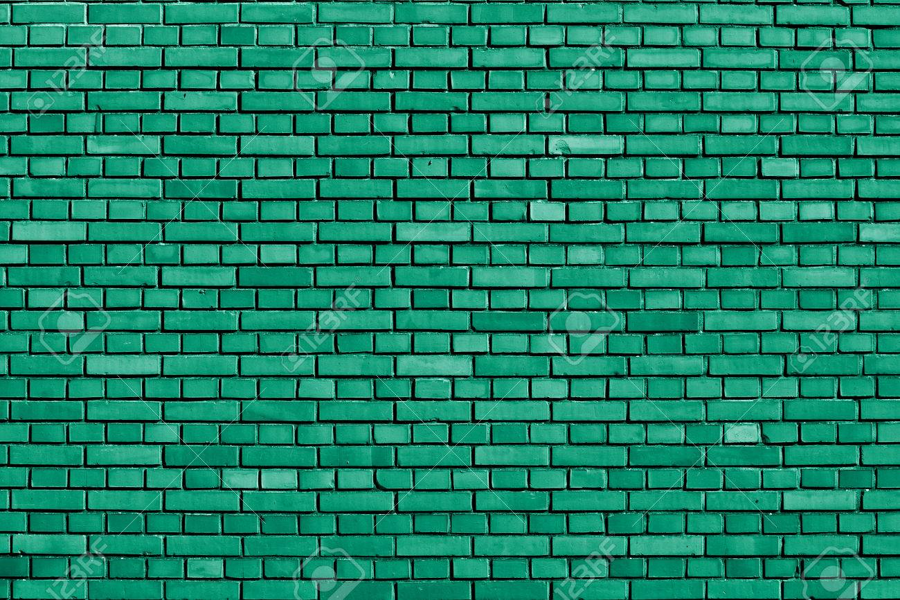 Emerald Green Brick Wall Background Stock Photo Picture And 1300x866