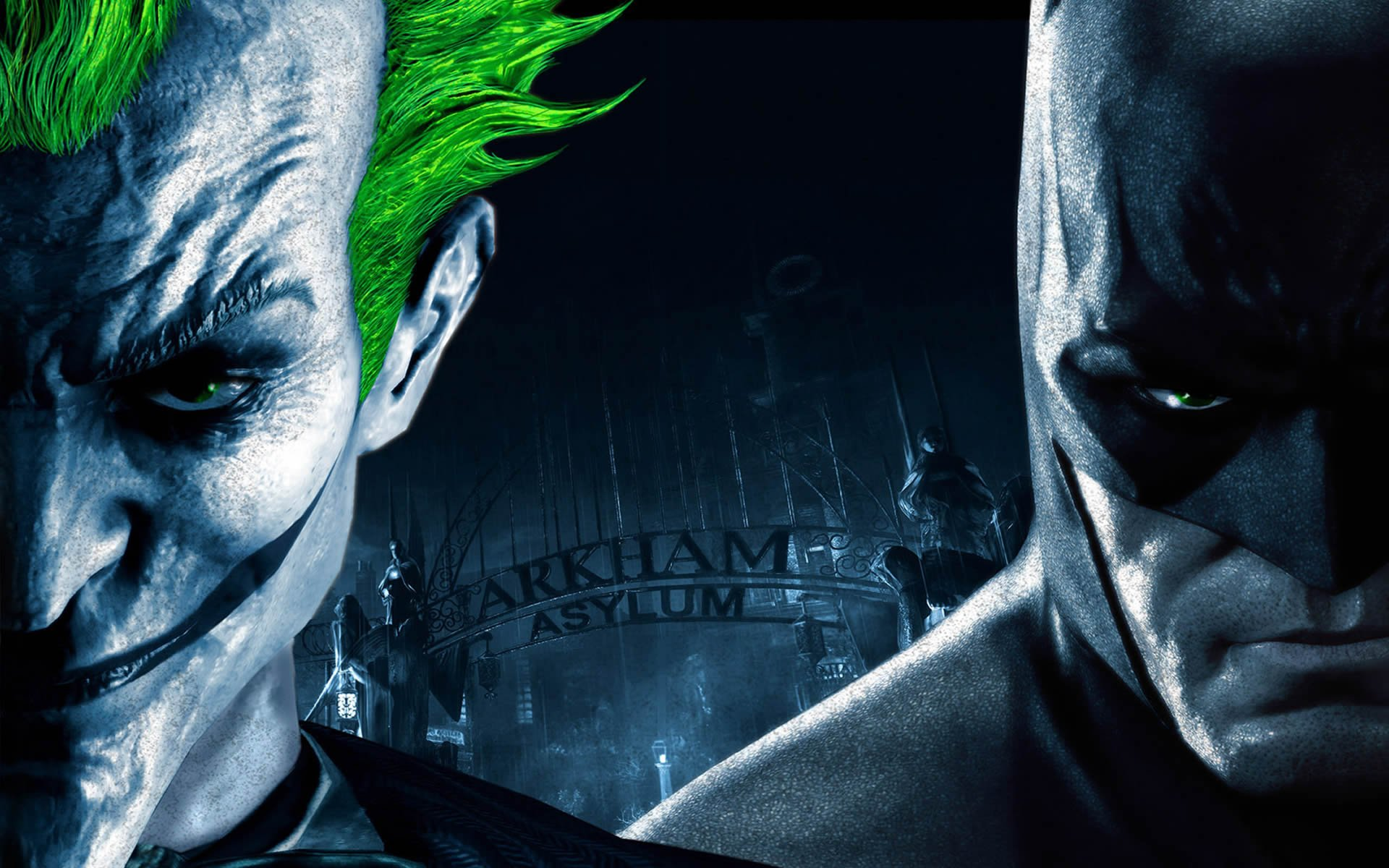 Batman And Joker   Batman Arkham Asylum Wallpaper 1920x1200