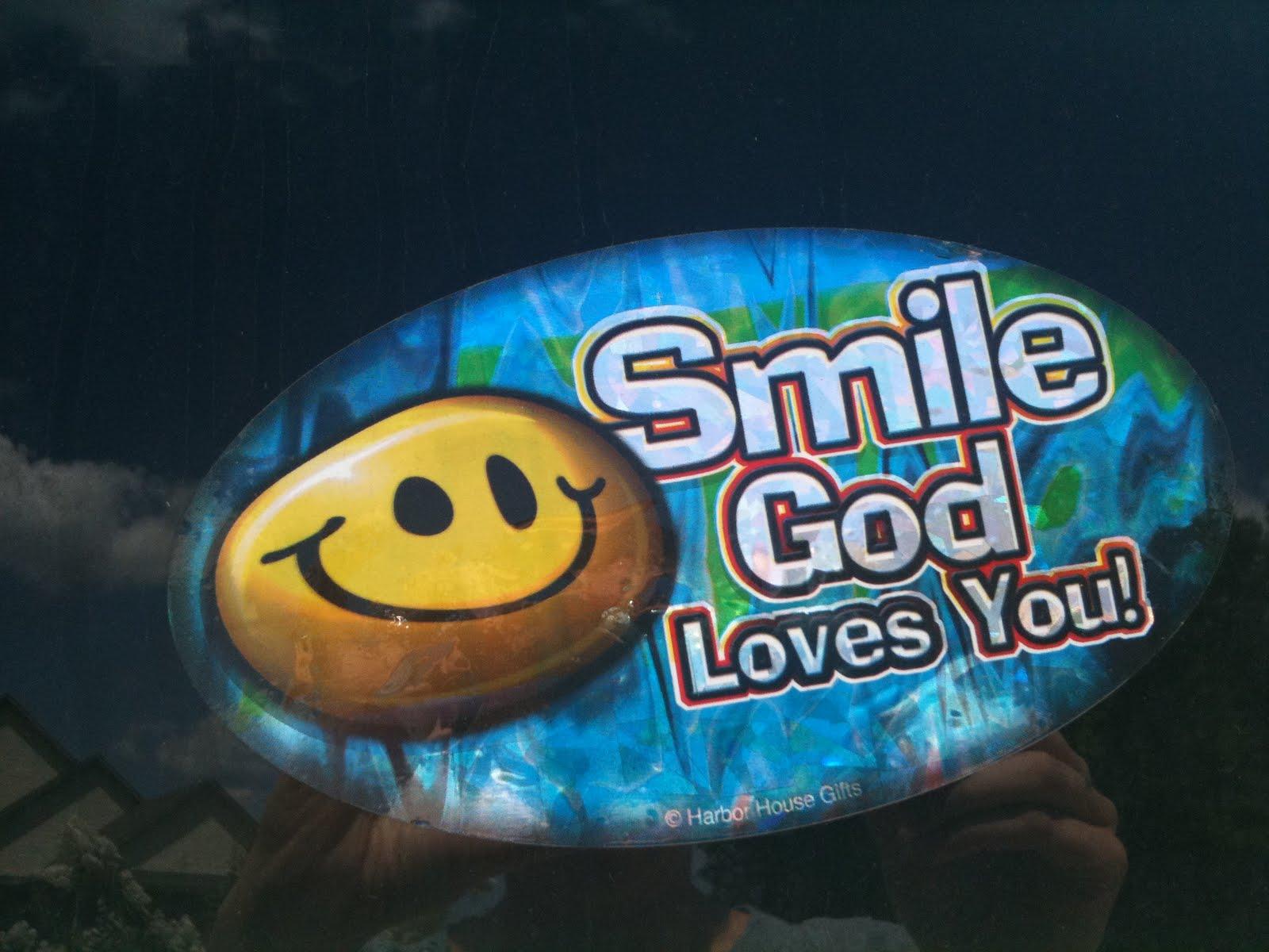God Loves Me Wallpaper A god loves you sticker 1600x1200