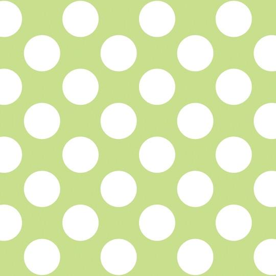 Home Christmas Gifts Polka Dot GreenWhite Removable Wallpaper 540x540