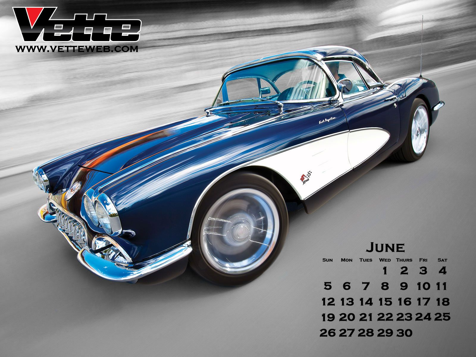 Thread Vette Magazines June Monthly Calender 1600x1200