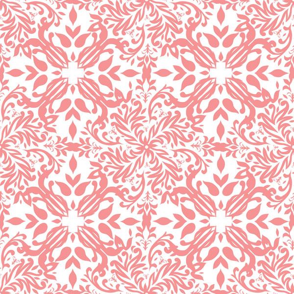 Home ACI Collection Damask Coral 600x600
