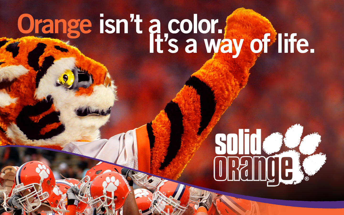 Clemson University Solid Orange 1440x900