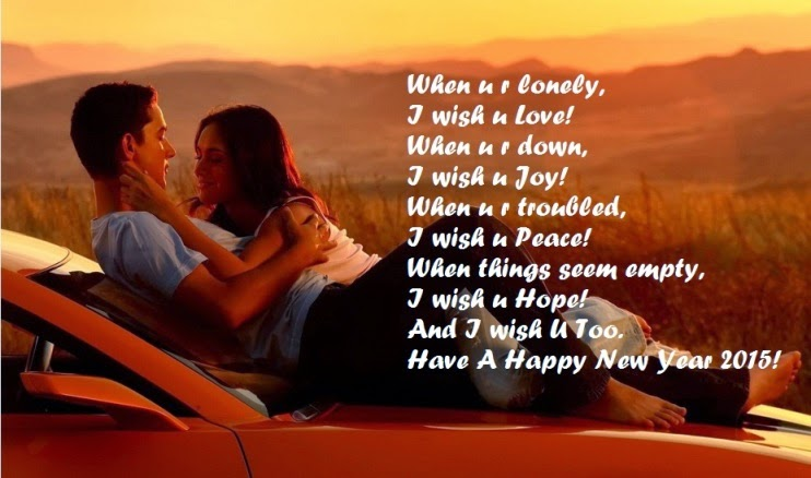 happy new year 2015 romantic wishes for girlfriend boyfriend 742x438