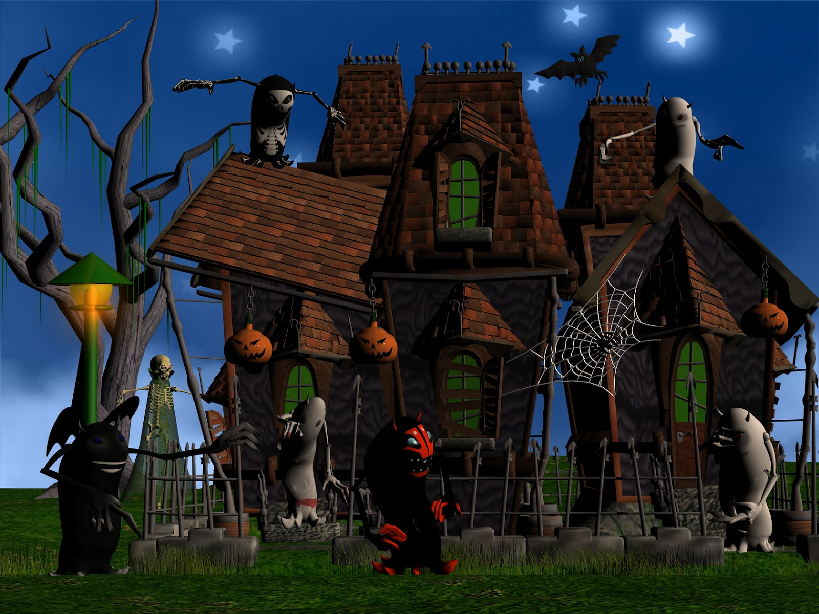 Happy Halloween Wallpapers 3D Happy Halloween Wallpaper 1600x1200