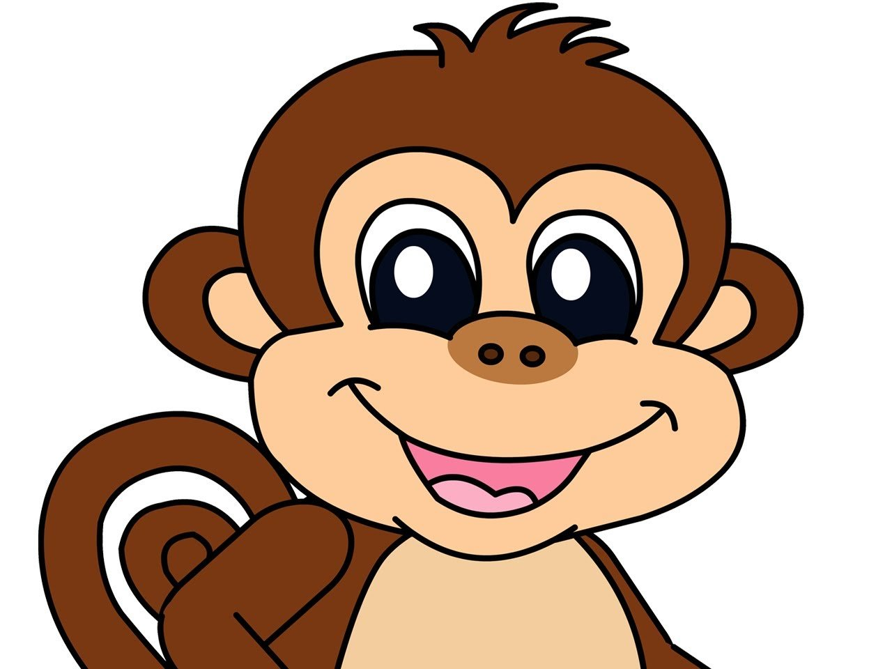 Animated monkey wallpaper wallpapersafari for Wallpaper home cartoon