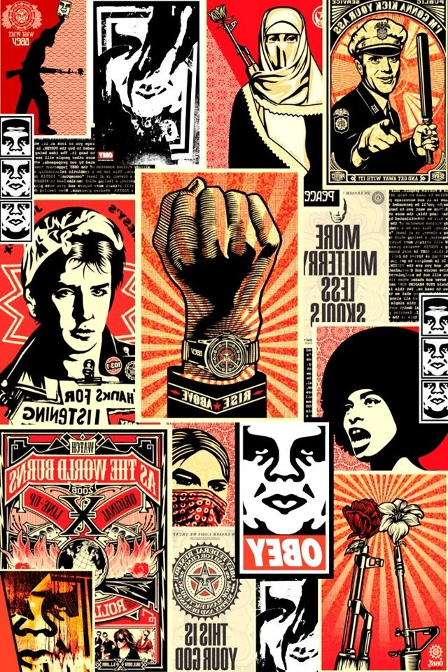 Obey Collage iPhone HD Wallpaper iPhone HD Wallpaper download iPhone 640x960