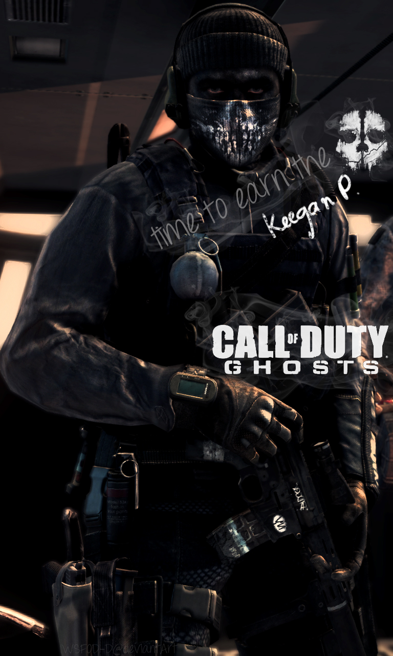 Call of Duty Ghosts   Keegan Phone Wallpaper by IWSFOD D 768x1280