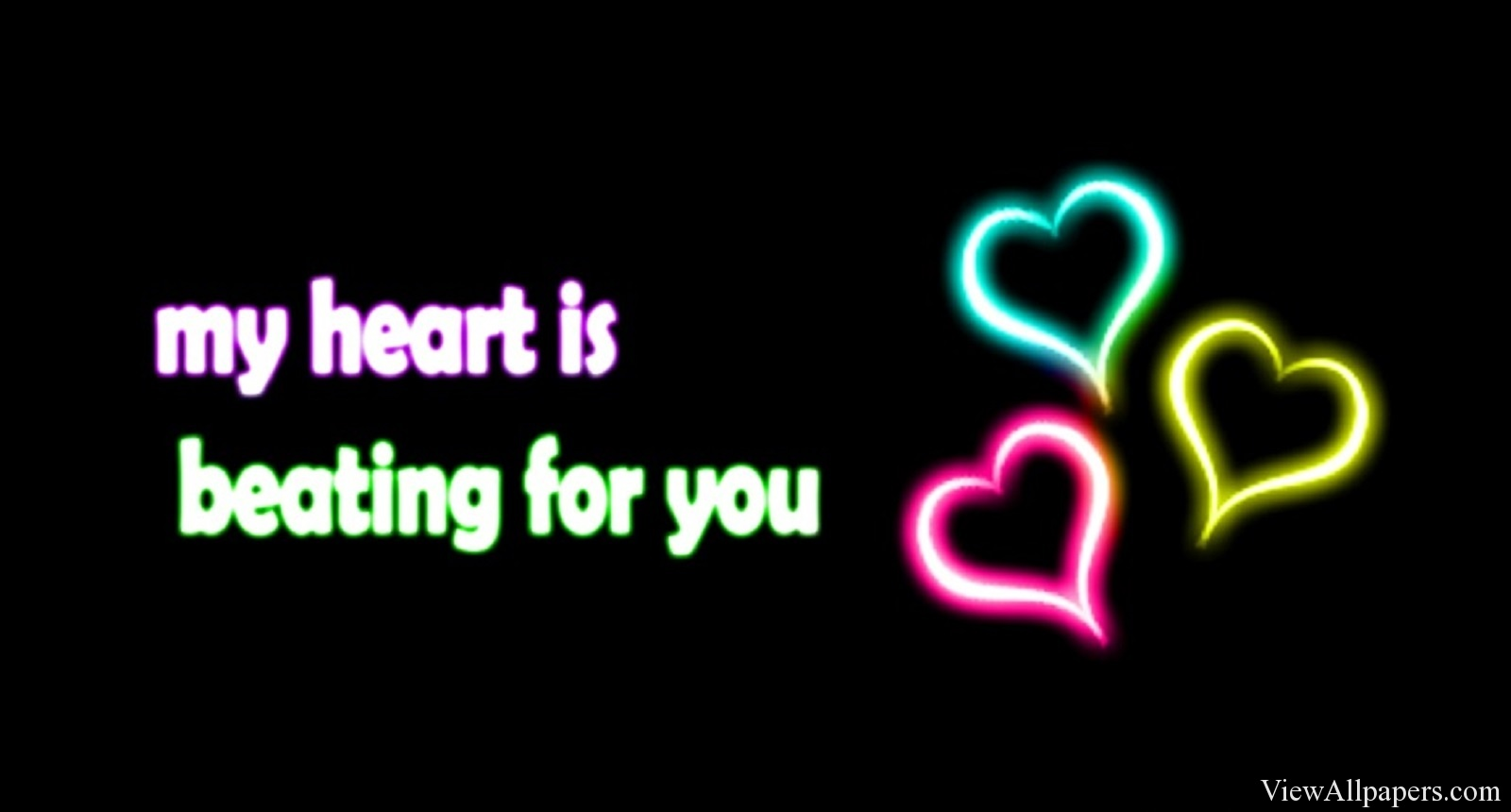 Love Quotes High Resolution Wallpaper download Neon Love Quotes 1600x860