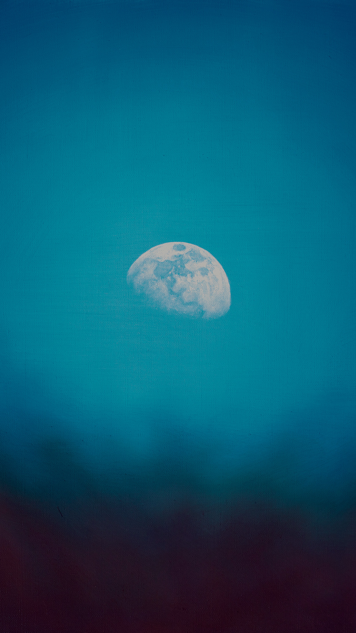 Moon Rise Day Nature Blue Dark Night Green Android   Blue Green 1242x2208