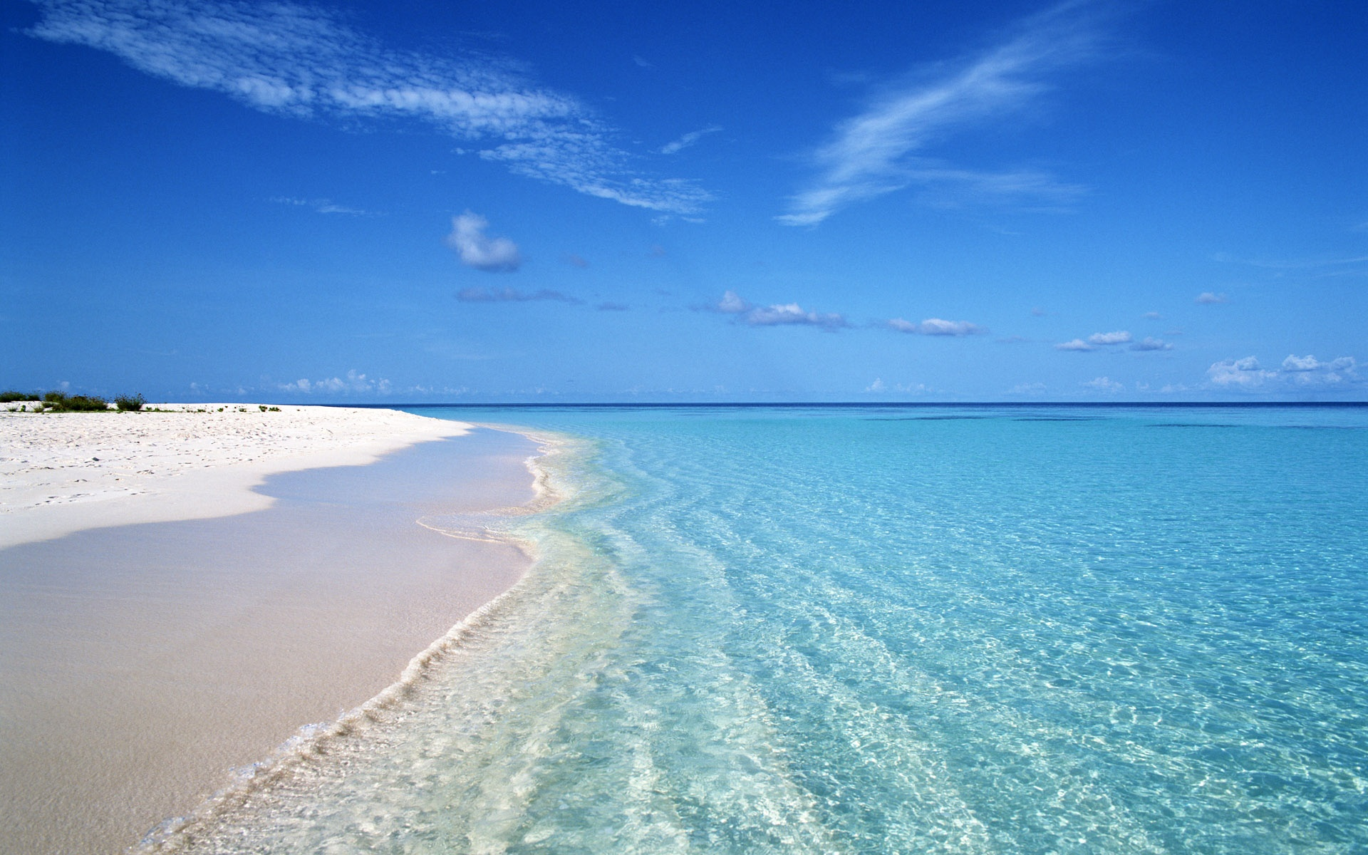 Summer Blue Beach Wave Wallpaper HD For Desktop 1920x1200