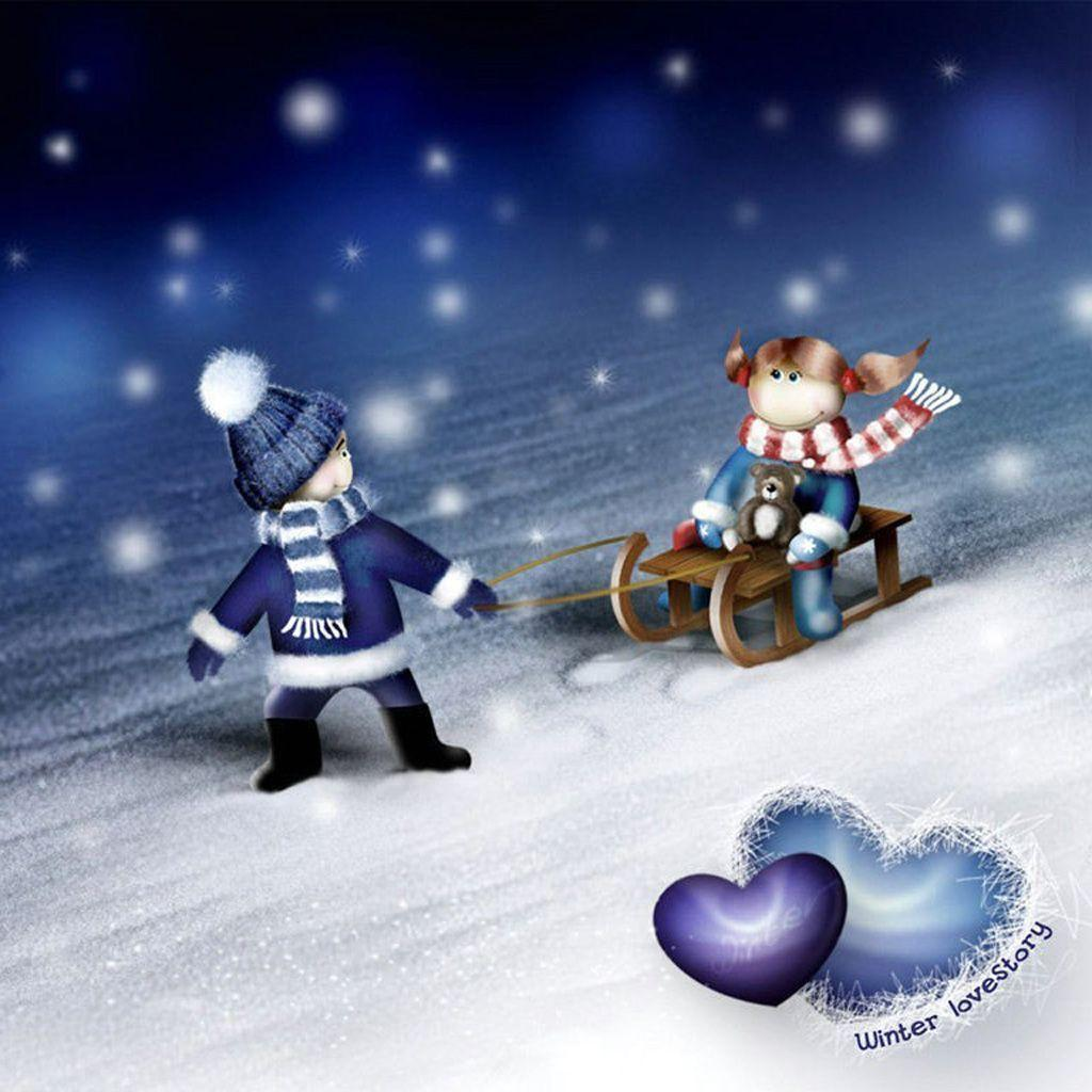Cute Winter Wallpapers 1024x1024