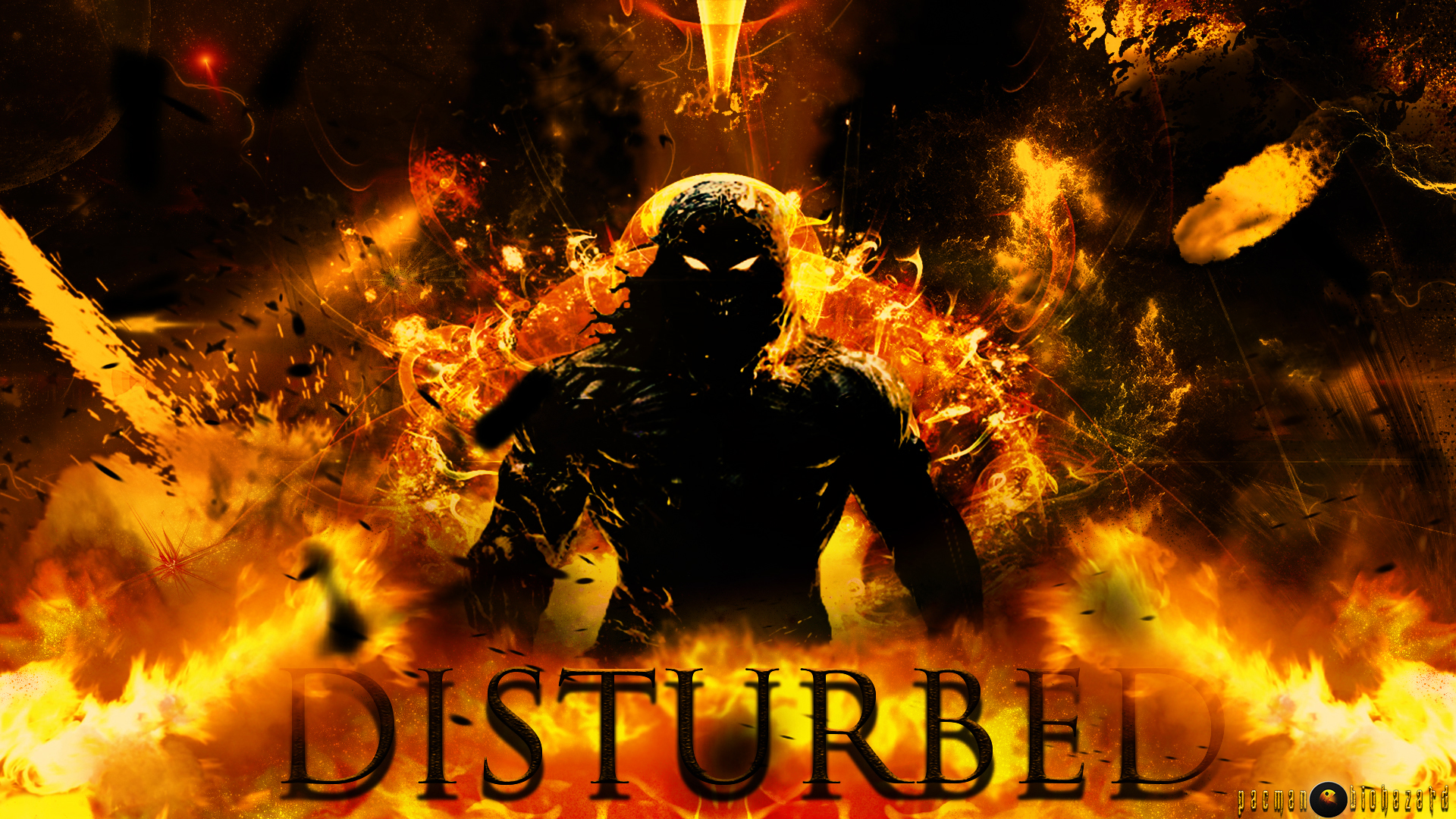 Disturbed Band HD Indestructible Background by pacmanbiohazard on 1920x1080