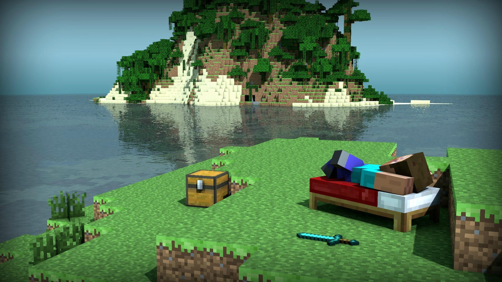 Relaxing Steve   Minecraft Gallery Wallpaper 31052614 1920x1080