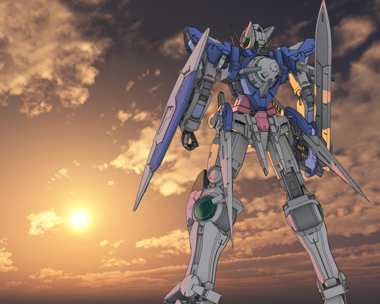 Free Download Mobile Suit Gundam 00 Gn 001 Gundam Exia Sun