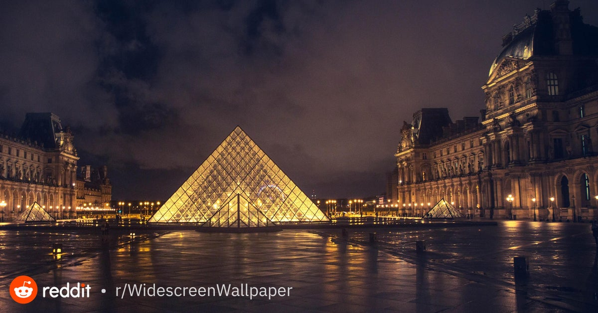 Pyramide du Louvre from rtravel [5472x2346] WidescreenWallpaper 1200x628