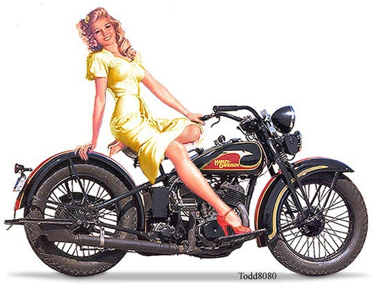 Dessin Pin Up Cafe Racer