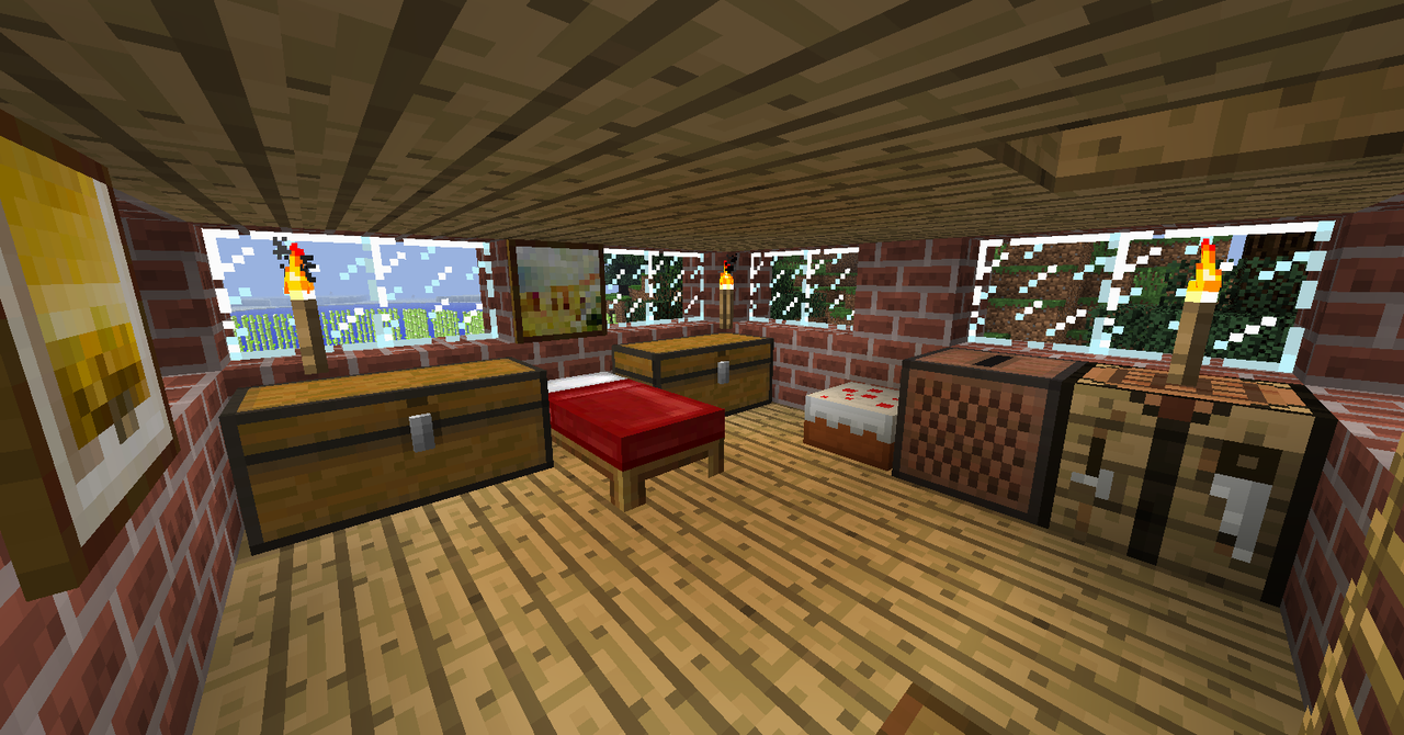 Minecraft Bedroom 2nd floor by Ceej95 1280x670