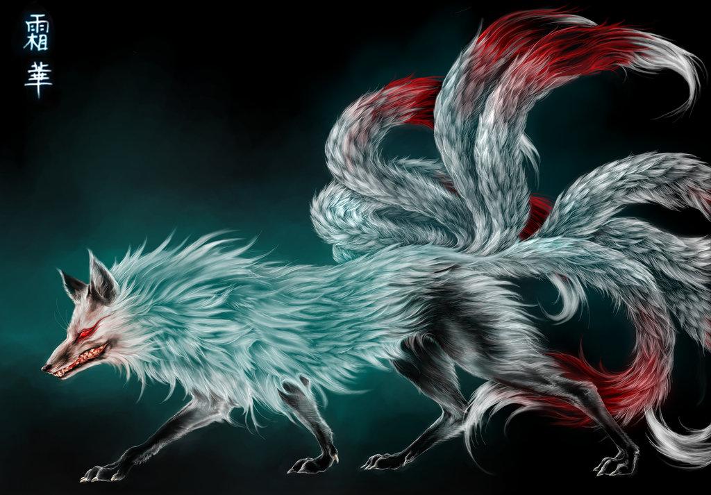 Nine tailed Fox by Vyrilien 1024x713