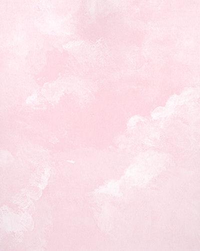 Light Pink Faux Cloud Wallpaper   Kids Wall Decor Store 400x500
