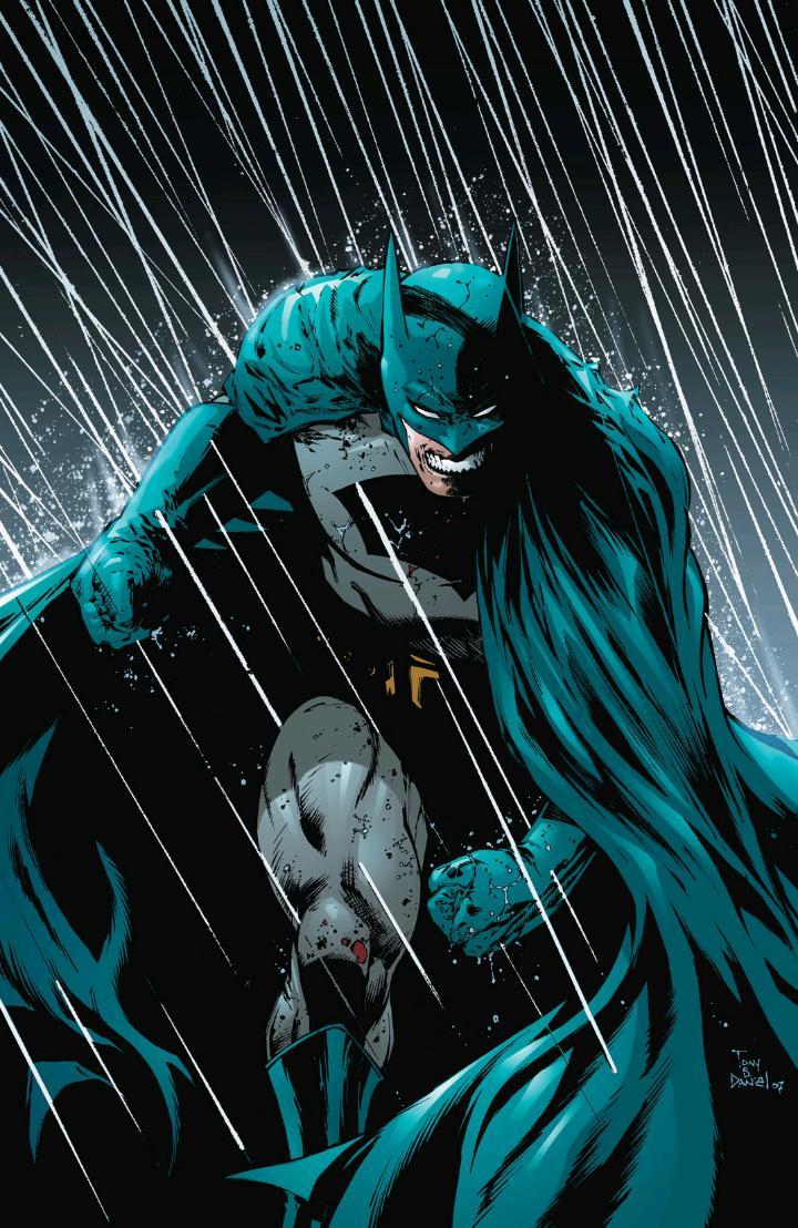 Batman in the rain phone wallpaper