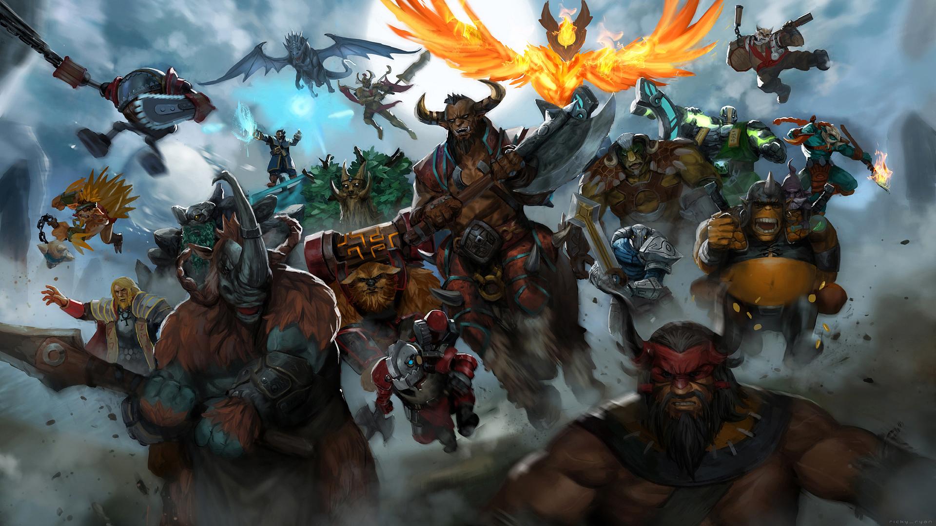 Dota 2 Epic Heroes Wallpaper HD 1920x1080