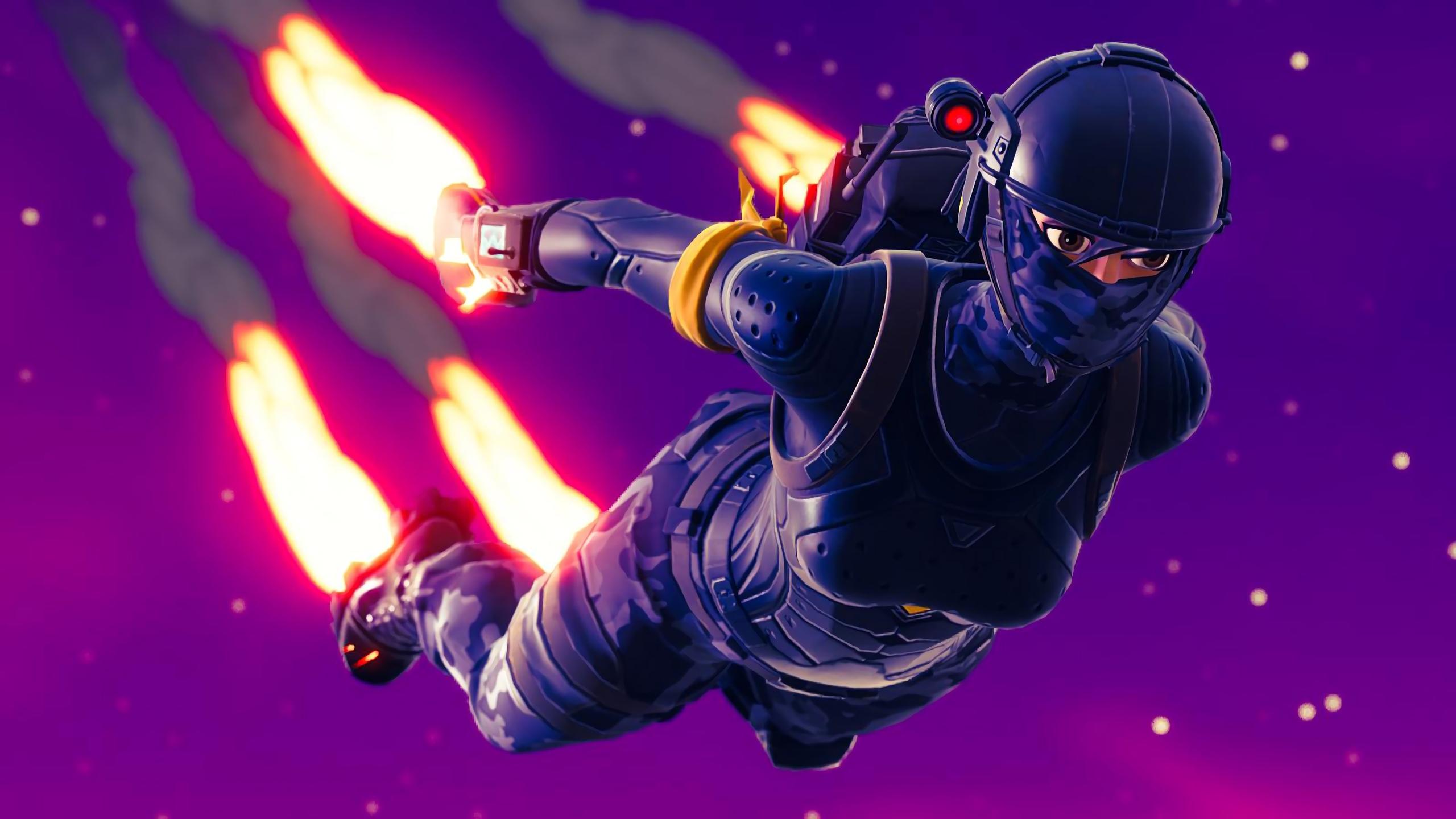 Free Download 2560x1440 Elite Agent Skydive Fortnite Battle