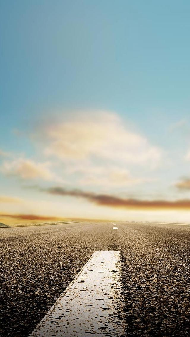 Nature Horizon Roads iPhone 5 wallpaper   8003   The Wondrous Pics 640x1136